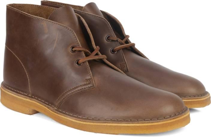 Clarks Desert Boot Camel Leather Boots For Men - Buy Beige Color ... a98266725c0