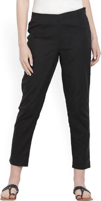 W Slim Fit Women's Black Trousers