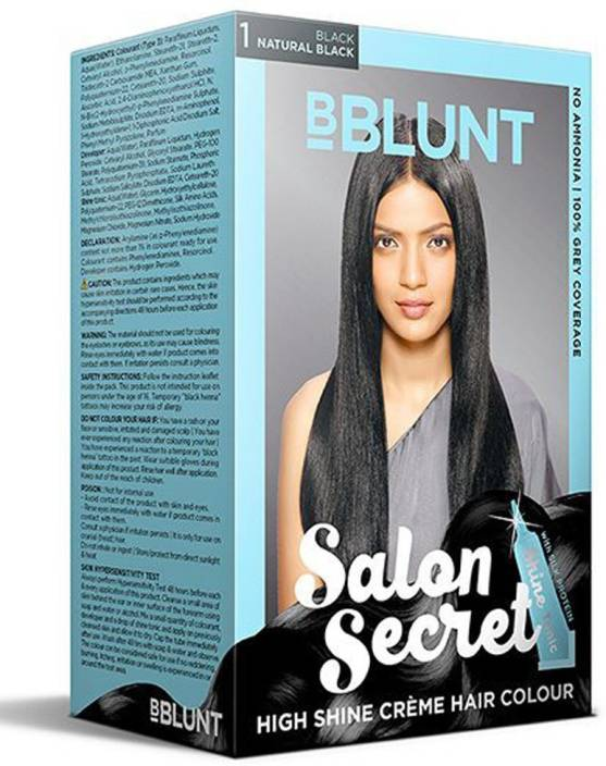 3edca73a841 BBlunt Salon Secret High Shine Cream Hair Colour Hair Color (Natural Black)