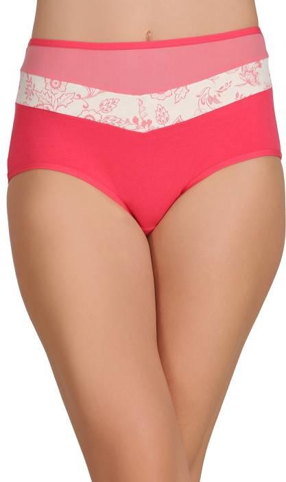 Clovia Women's Hipster Pink Panty