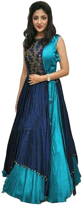 Shiv Fashion Georgette Embroidered Semi-stitched Salwar Suit Dupatta Material