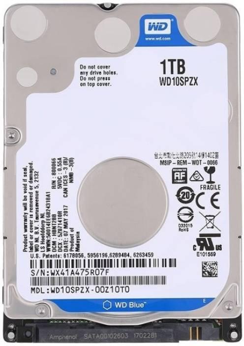 WD Blue 1 TB Laptop Internal Hard Disk Drive (WD10SPZX/WD10JPVX) - WD : Flipkart.com