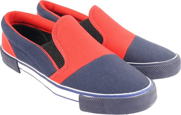 Abon Blue & Red Casual Shoes for Men Casuals For Men