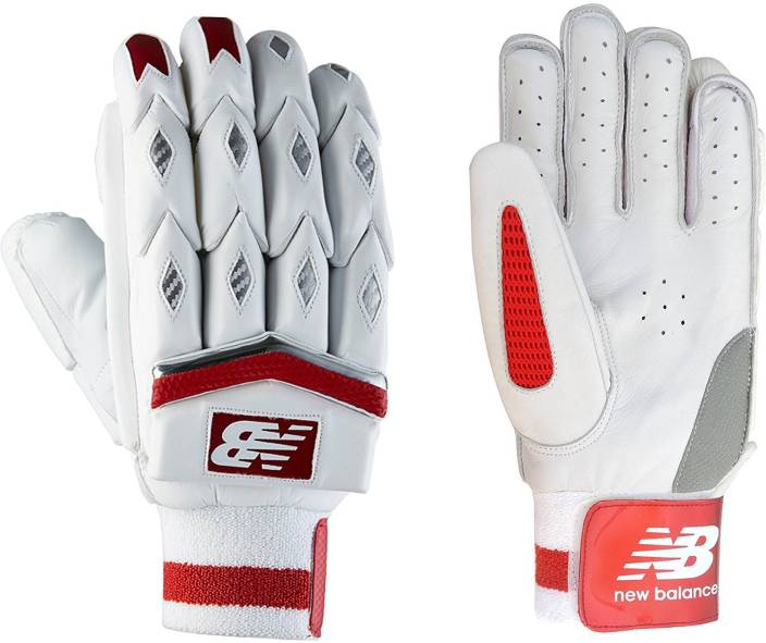 New Balance TC 1260 (RH) Batting Gloves (Men, White, Red