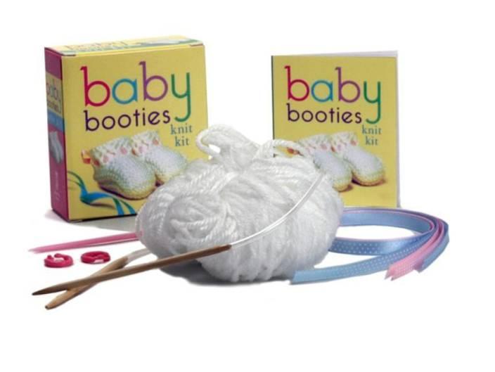 Baby Knitting Kits Uk : Baby booties knit kit with knitting needles stitch