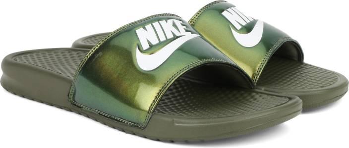 484a12f36f0f Nike BENASSI JDI PRINT Flip Flops - Buy MEDIUM OLIVE WHITE Color Nike  BENASSI JDI PRINT Flip Flops Online at Best Price - Shop Online for  Footwears in India ...