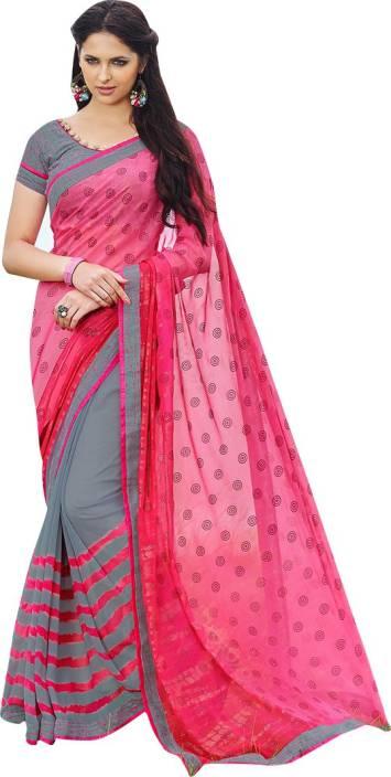 2b3cb9fc1e Buy Craftsvilla Printed Fashion Georgette Multicolor Sarees Online ...