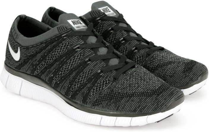 half off b5428 3c4c5 Nike FREE 5.0 FLYKNIT Running Shoes For Men (Black)