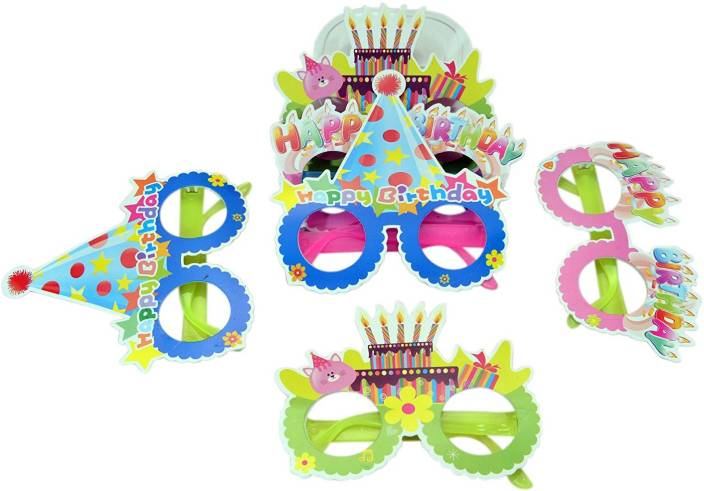 Instabuyz Birthday Party Supplies Kids Props Happy Goggles For Girls Boys Bday Gifts