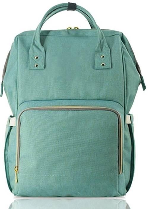 1b048bc6c1ca5 Motherly Mummy Maternity Nappy Bag Large Capacity Nursing Bag Maternity  Nappy Bag (Sea Green)