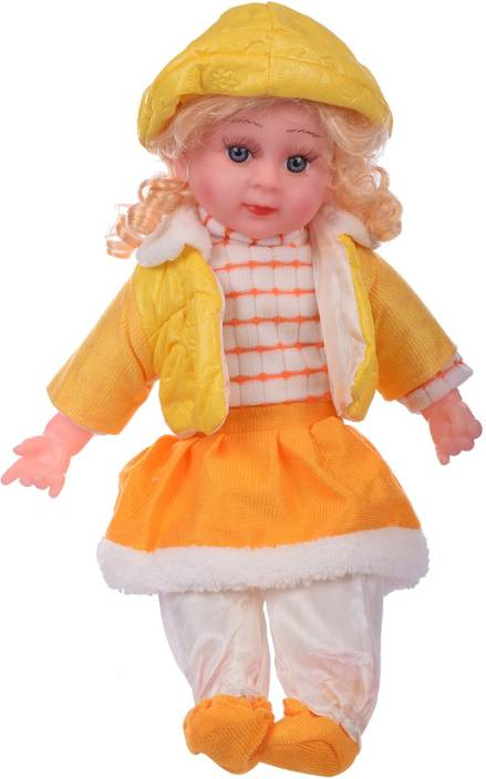 Aarushi Baby Doll Stuffed Toy Girl Doll (Yellow) - Baby Doll Stuffed ... 9937f6a8b5