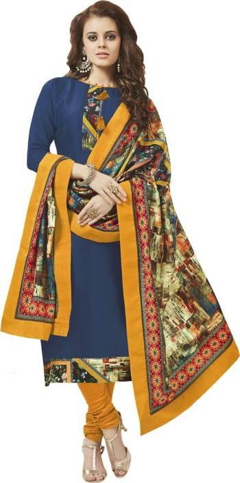 Saara Cotton Solid Semi-stitched Salwar Suit Dupatta Material