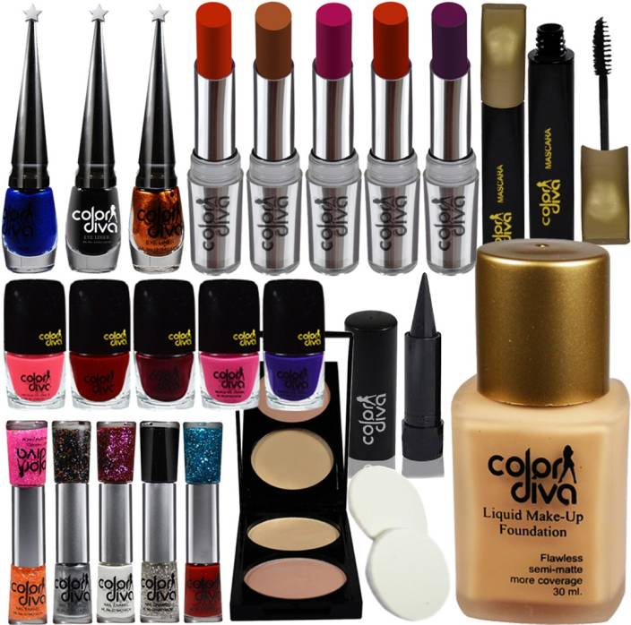 Color Diva Festive Speciality Exciting Deal Combo Makeup Sets (Pack of 22)