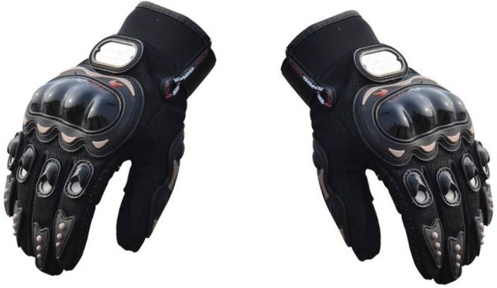 Auto Hub Pro Biker Riding Gloves (XL, Black)