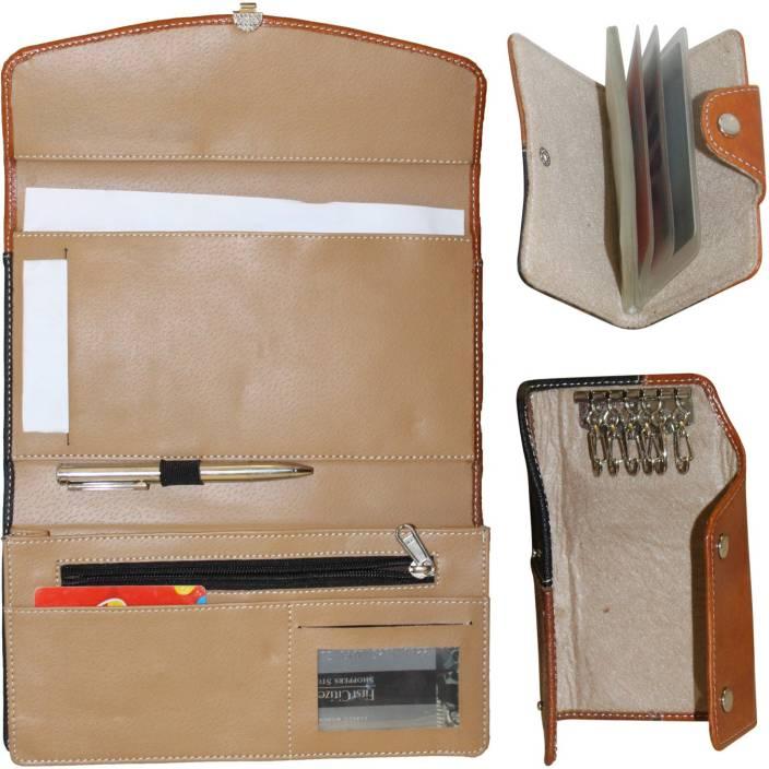 c8ff4d90234c AKSHAT 11 Compartments PU LEATHER Business Gift Set -mens wallet- ladies  wallet - leather