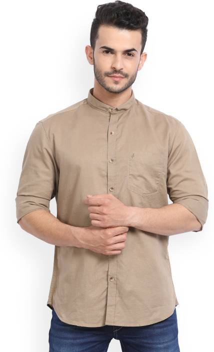 John Players Men's Solid Casual Shirt