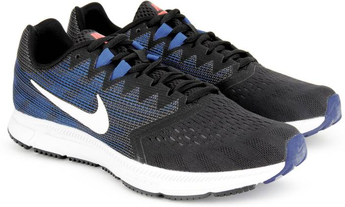 635064c536a Nike ZOOM SPAN 2 Running Shoes For Men - Buy BLACK WHITE-DEEP ROYAL ...