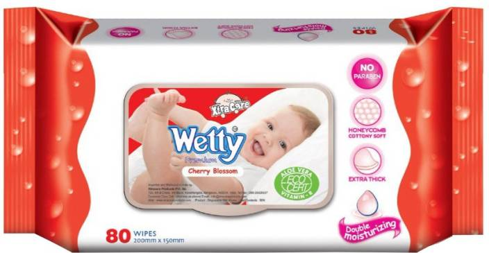 Wetty Cherry Blossom Wipes