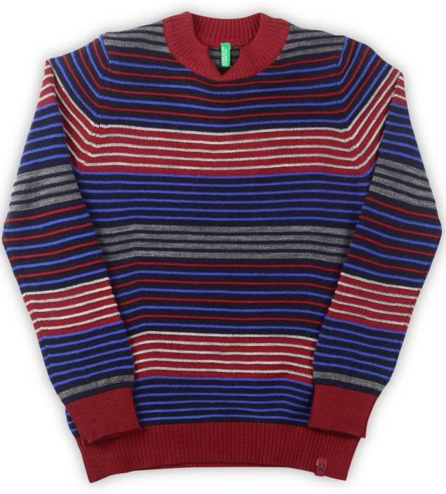 f4d912ecea3c United Colors of Benetton Striped V-neck Casual Boy s Multicolor ...
