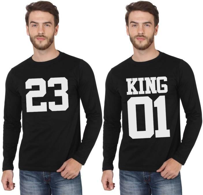 SayItLoud Printed Men's Round Neck Black, Black T-Shirt
