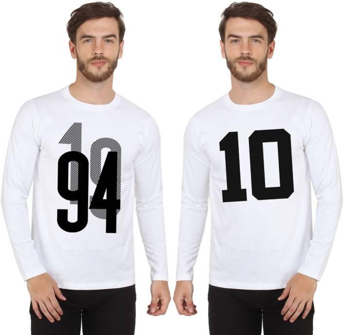 SayItLoud Printed Men's Round Neck White, White T-Shirt