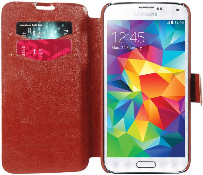 Cubix Wallet Case Cover for Samsung Galaxy S5 (SM-G900I)