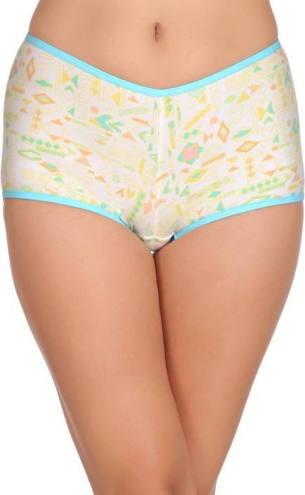 Clovia Women's Boy Short Yellow Panty