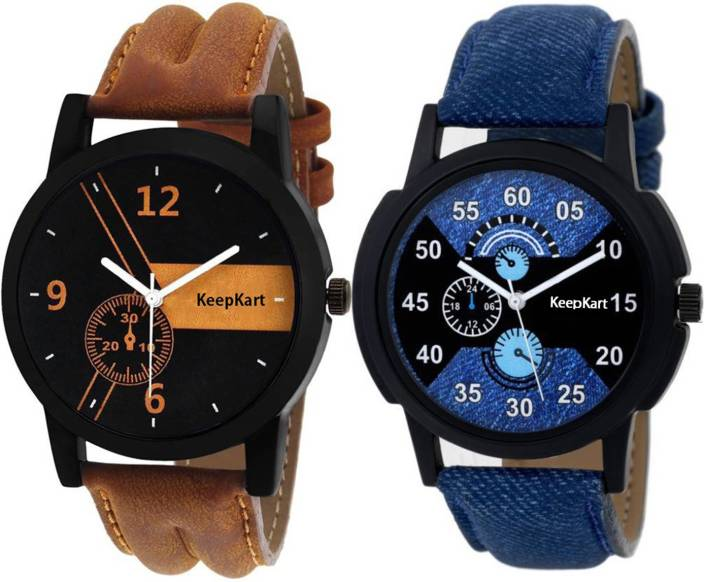 Keepkart New Stylish Leather Strap 001 002 Watch  - For Men