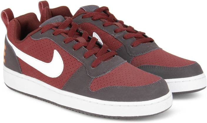 Nike COURT BOROUGH LOW Sneakers For Men - Buy DARK TEAM RED WHITE ... 319573ff4