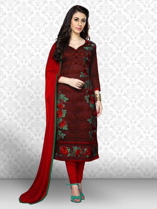 Divastri Cotton Embroidered Salwar Suit Dupatta Material
