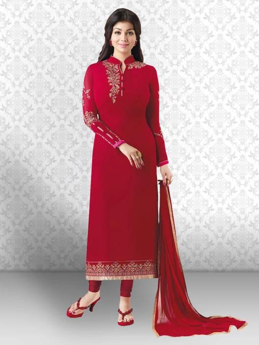 Divastri Georgette Embroidered Salwar Suit Dupatta Material