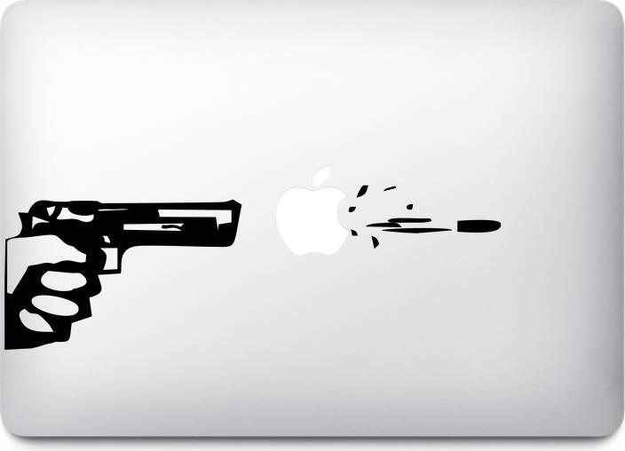 Presgraphics Shoot Apple Logo Decal Vinyl Macbook Sticker