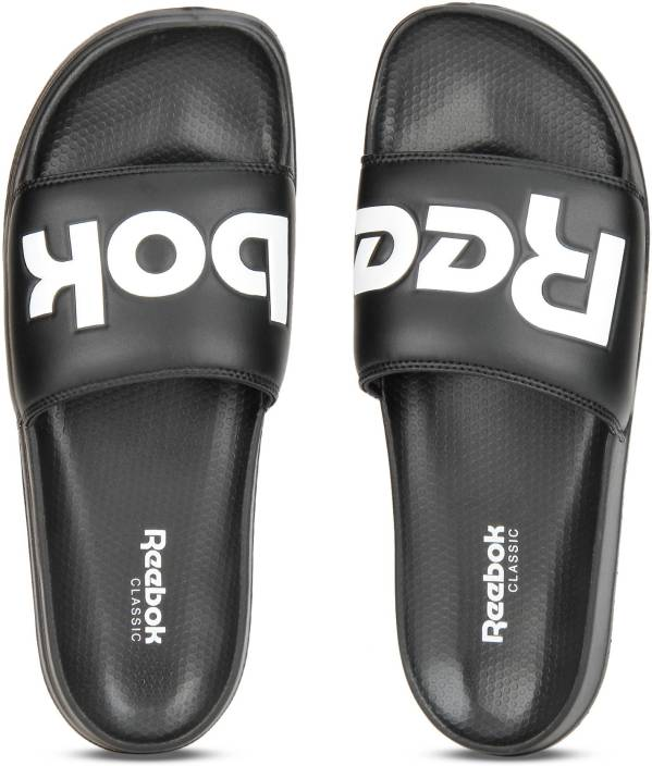 1a557e3954ae REEBOK CLASSIC SLIDE Slides - Buy SPLT-BLACK WHITE Color REEBOK CLASSIC  SLIDE Slides Online at Best Price - Shop Online for Footwears in India