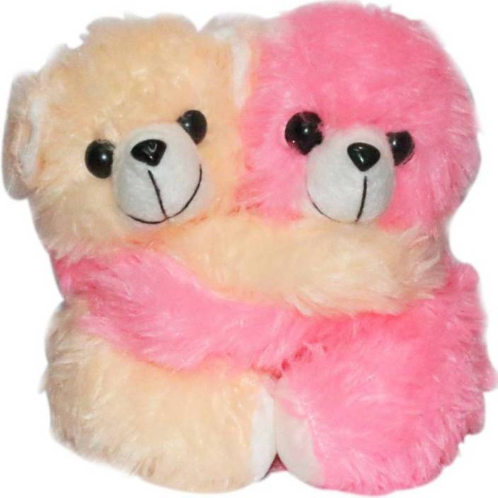 Gifteria Stuffed Spongy Twin Huggable Cute Couple Teddy Bear Birthday Gifts Girls Lovable Special Gift High Quality 20cm