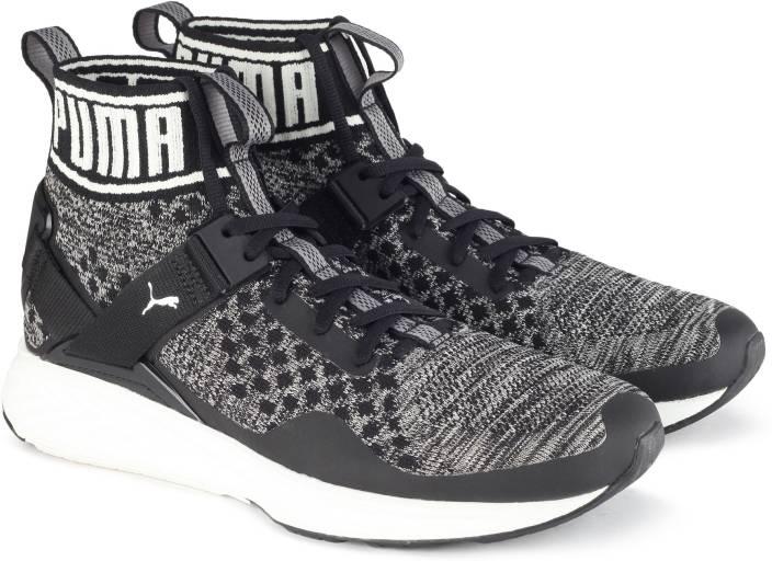 5f093cd843c208 Puma IGNITE evoKNIT Running Shoes For Men - Buy Puma Black-QUIET ...
