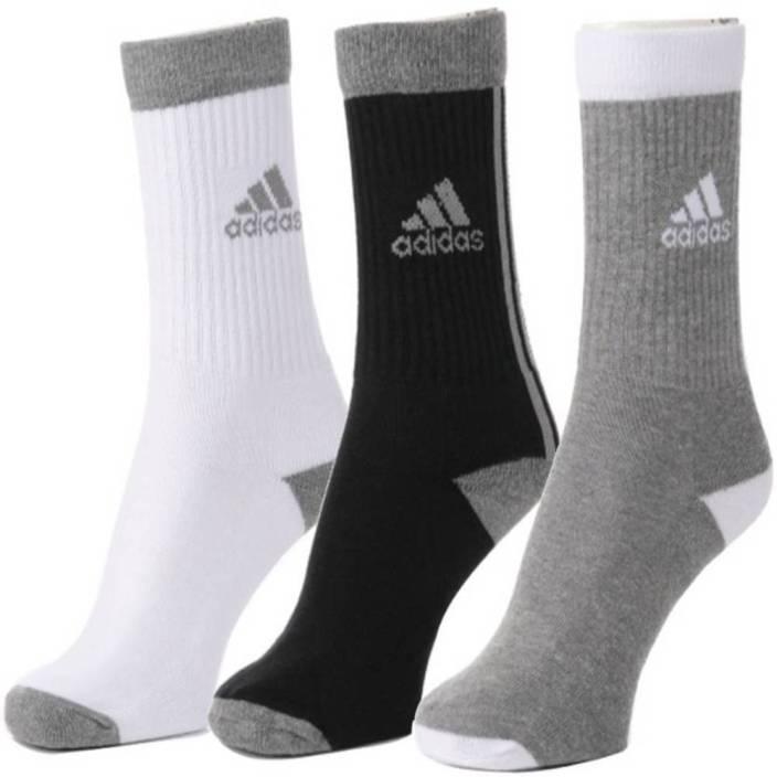 Adidas Men & Women Solid Crew Length Socks