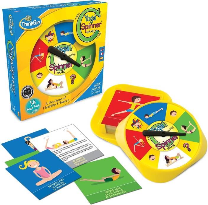 Krypton Thinkfun Games Yoga Spinner Game Kids Activity Board Games