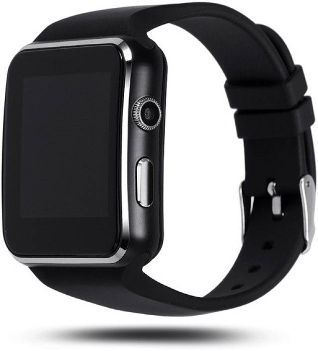 HBNS Compatible Bluetooth Certified Smart Phone Watch | X6 Wrist Watch Phone with Camera & SIM Card Support | Hot Fashion | New Arrival | Lowest Price | Apps like Facebook and Whatsapp | Read Message or News | Sports | Health | Pedometer | Sedentary | Remind & Sleep Monitoring | Better Display | Loud Speaker | Microphone | Touch Screen | Multi-Language | Best Selling Premium Quality Smart Watch (Colour: Black) Smartwatch