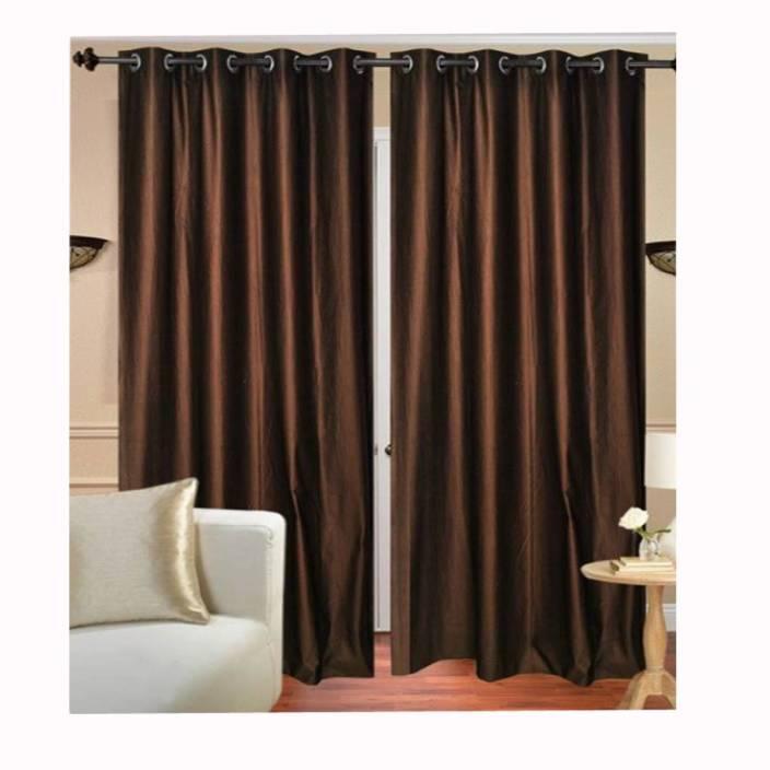 Av Creations 152 Cm 5 Ft Polyester Window Curtain Pack Of