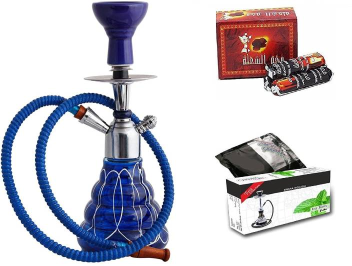 JaipurCrafts premium 15 Inch Hookah Wih Exotic Flavour And Charcoal 15 inch Glass Hookah