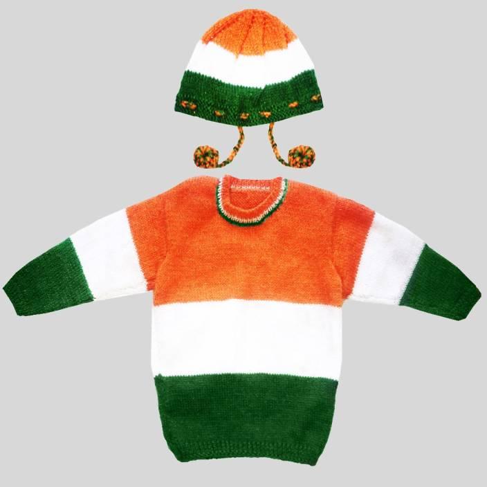 55fb4751e84c DADIMA KI BUNAI Baby Boys   Baby Girls Casual Sweater Cap Price in ...