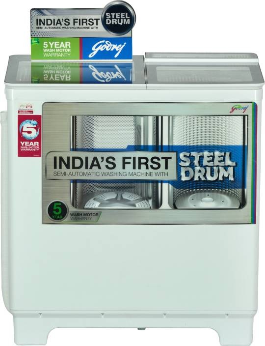 Godrej 8 kg Semi Automatic Top Load Washing Machine White
