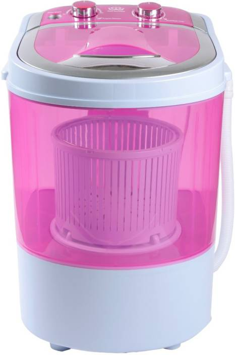 DMR 3/1.5 kg Semi Automatic Top Load Washer with Dryer Pink, White