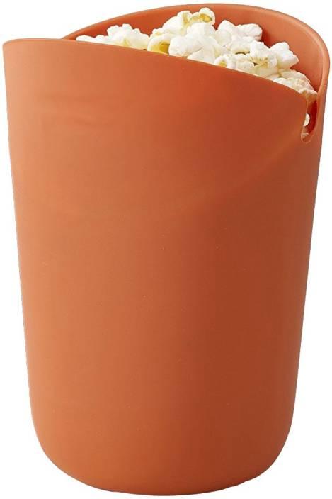 RIANZ Microwave Silicone Popcorn Popper Maker Single Serve Portion Silicone Food Safe (Color May Vary) Microwave Silicone Popcorn Popper Maker Single Serve Portion Silicone Food Safe (Color May Vary) 300 ml Popcorn Maker