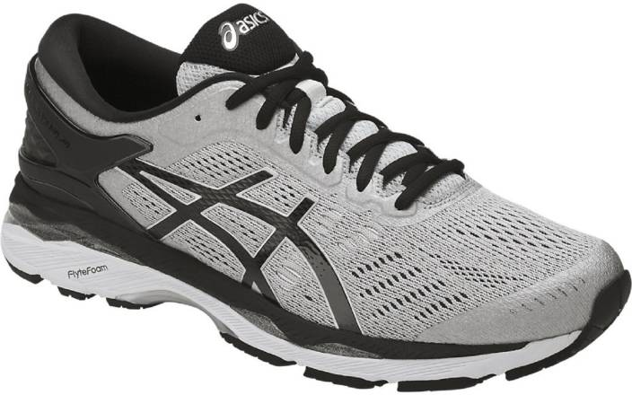 Asics GEL - KAYANO 24 (2E) - SILVER BLACK MID GREY Running Shoes For Men  (Grey) 5acfde1b4