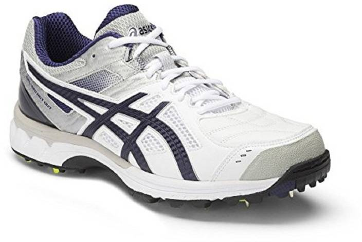 Asics GEL - 220 NOT OUT - WHITE/INDIGO BLUE/SIL Cricket Shoes For Men