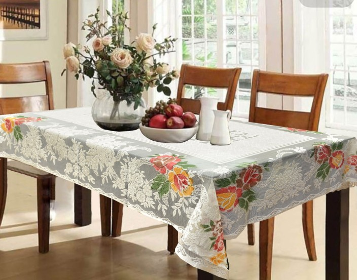 Flipkart & Kuber Industries Printed 6 Seater Table Cover