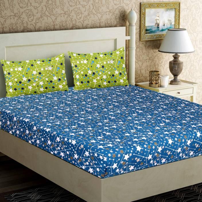 Zesture 104 TC Cotton Double Printed Bedsheet