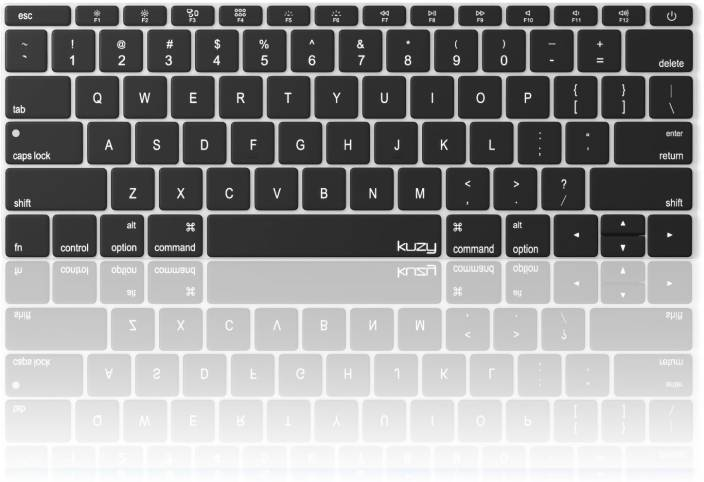 competitive price 35b49 21e29 Saco Keyboard Silicon Protector Cover for MacBook Pro 13 inch A1708 (No  TouchBar) Release 2016 & MacBook 12 inch A1534 NEWEST Silicone Skin - Black  ...