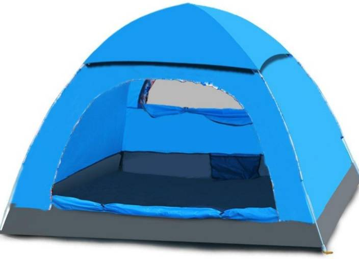 Rps Aecone Blue 4 Person Camping Tent Picnic Camping Portable